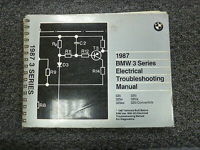 1987 BMW 325 325e 325es 325i Electrical Wiring Troubleshooting Service Manual