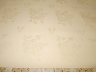 Discount Twill Tablecloth Fabric Home Decor Jacquard All Over Rose  Peach DR41 - Discount Home Decor