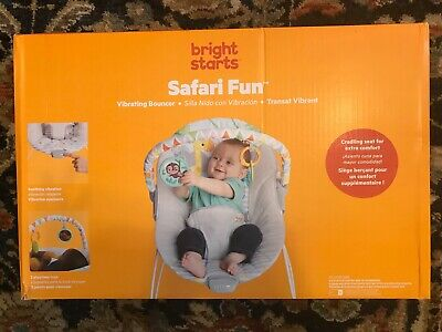 Bright Starts Vibrating Bouncer Seat with Melodies - Happy Safari