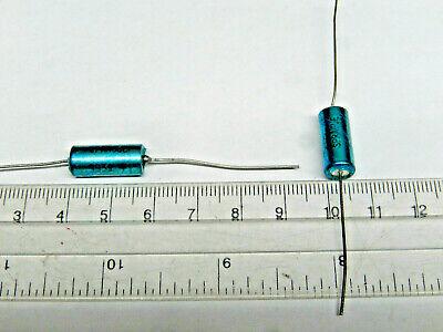 10uf- 50v- 10 Sprague Axial Tantalum Capacitors Nos Lot Of 5 Pcs.