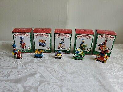 1998 Hallmark Merry Miniatures Disney Mickey Express Set of 5 Figurines NIB NEW