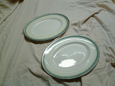Oval plates vintage John Maddock 'Royal Ivory'  x 2