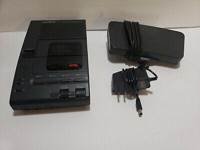 Sony Microcassette Transcriber M-2000 Wpower Adapter And Fs-80 Pedal