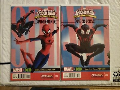 ULTIMATE SPIDER-MAN WEB WARRIORS #1, #3 (Spider-Verse, TV Show) Marvel, (Ultimate Spider Man Web Warriors Spider Verse)