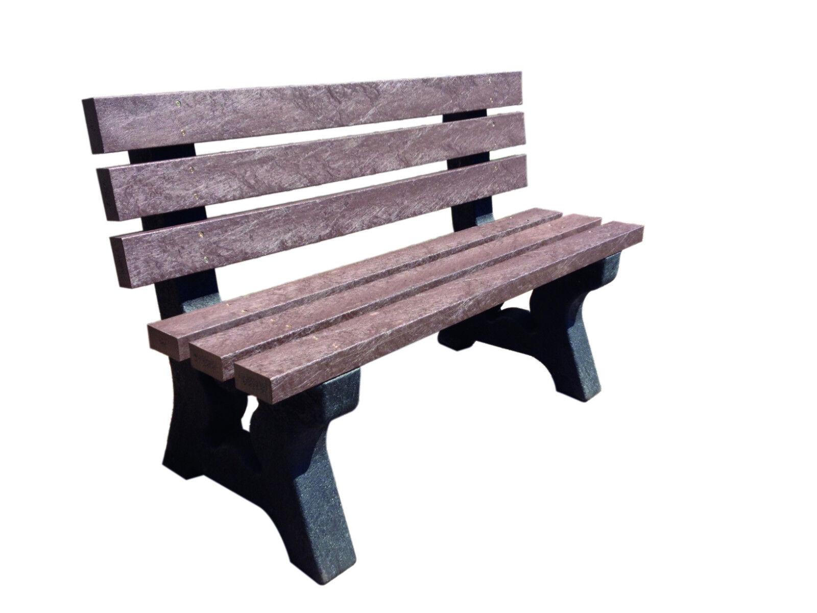 100 Recycled Plastic Garden Park Seat Bench Outdoor 1 4m Ebay