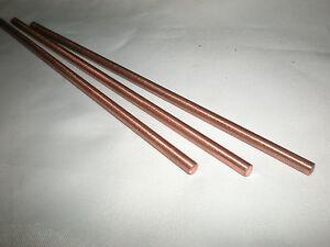 Copper Rod C101 Grade 3.0mm Dia x 150mm Long