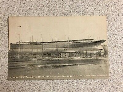 Cunard Steamship Line Lusitania Rare Building Photo John Brown And Co -