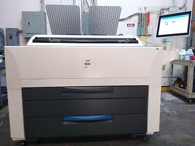 Kip 860 Wide Format Color Mutli-function Copierprinterscanner Only 70k Sq Ft