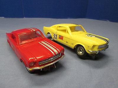 1965 Aurora T Jet Slot Cars Vintage 1/32 Scale Mustangs