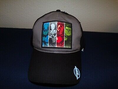 Adult Hat Marvel  Hulk Thor Captain America Iron-Man Disney Parks new (Marvel Thor Hat)