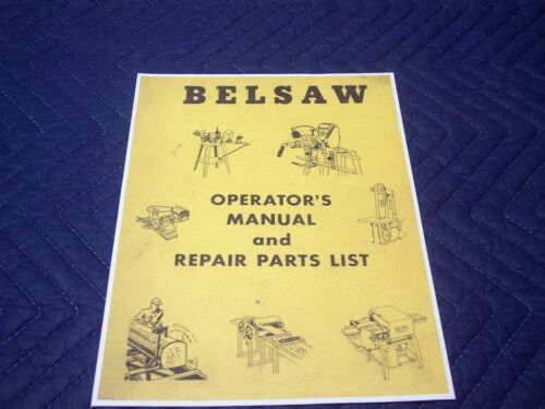 Foley Belsaw 1055 Sharp All Saw Tool Grinder Owner Operators Repair Parts Manual
