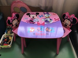 Minnie Mouse Table & Chairs