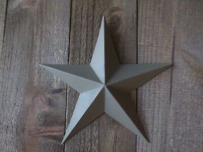 """Lot of 2 Country Primitive 10"""" Green Barn Stars Rustic Wall Decor Dimensional"""