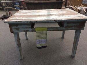 Naturally distressed old table