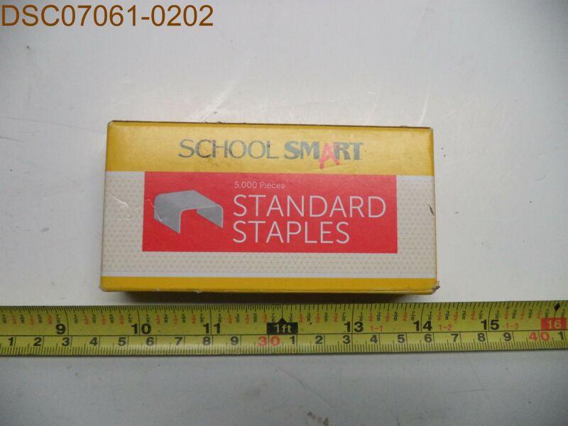 QTY = 8: School Smart Standard Staples, 5,000 per box, 061059, 077914051602