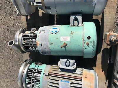 Tri-clover Tri-flo Sanitary Pump C216mdg21t-s-kx Centrifugal Ss 10 Hp