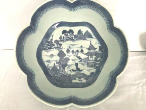 Canton Export Large Scalloped Rim Bowl