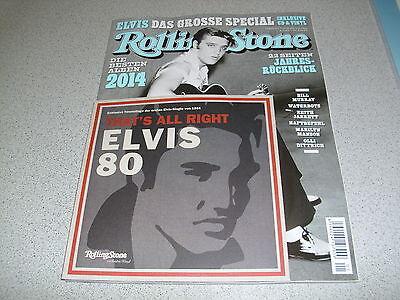 "Rolling Stone - JANUAR 2015 - Heft inc. CD & incl. ELVIS PRESLEY 7"" Vinyl Single"