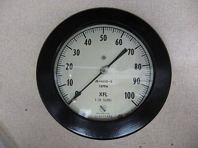 Nos - Ashcroft Pressure Gauge 100psi Model 1379a 5 12 Xfl Js-465d-3 Amp 8320