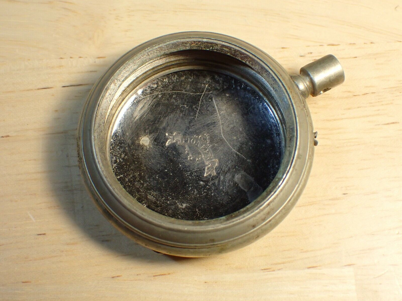 Vintage PIONEER Watchmakers POCKET WATCH CASE 16s Silverode Pin Set - $15.00