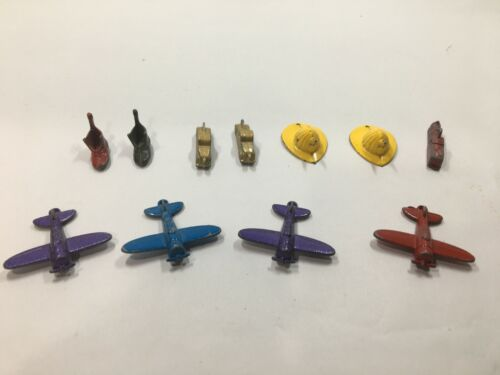 Vintage CRACKER JACK Toy Prize Metal Airplane Charms and more ~ Gumball Premium