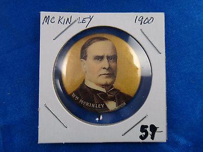 1900 William McKinley Presidential Campaign Political Pin Pinback Button