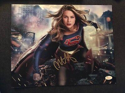 Super Girl Melissa Benoist Autographed Signed 11X14 Photo Jsa Coa  1