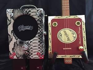 StrummA 3 string Cigar box guitar & Pignose S/skin mains/batt amp Gilston Gold Coast West Preview