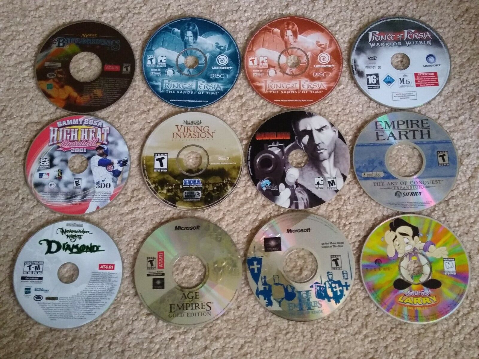 Computer Games -  Lot of 12 Vintage Teen/Mature CD DVD ROM Computer Disk Disc Games