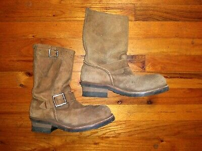 Usa Engineer - RED WING (USA) Engineer boots Motorcycle Leather Boots 8178 Suede Size 6.5 EUC