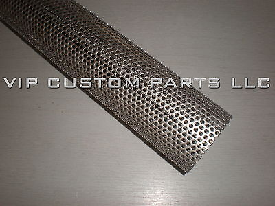 Perforated Stainless Tube (2.5 in. 409 STAINLESS STEEL perforated exhaust tube (1 FOOT)