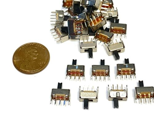 25 pieces SS12D07  3pin Mini micro small tiny Slide Switch PCB on off 1P2T B10