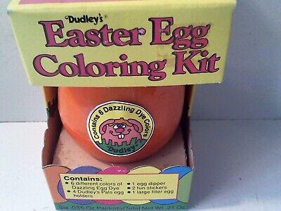 1985 DUDLEY'S EASTER EGG DYE COLORING KIT COMPLETE IN ORIGINAL BOX - ORANGE (Easter Egg Colors)