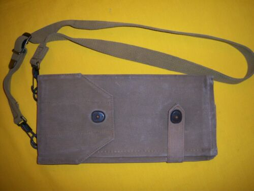 RARE 1917-18 USMC US OFFICERS MAP DISPATCH CASE WITH SHOULDER STRAP EXC ISSUED