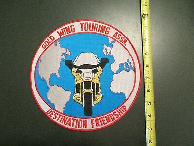 - Gold Wing Motorcycle Touring Assn Destin Large Back Jacket clothing sew on Patch