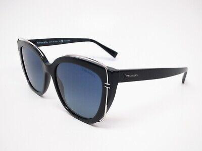 Tiffany & Co TF 4148 8001/4U Black w/Azure Gradient Blue Polarized Sunglasses (Tiffany Mens Sunglasses)
