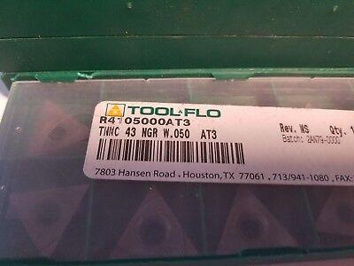 Tool Flo Tnmc 43 Ngr W.050 Carbide Threading Insert 10 Pieces