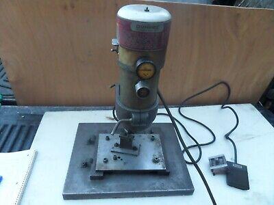 Vtg Dumore Drill Press 20-001 Automatic Drill Head 2.5 Amp Treadlite Foot Pedal