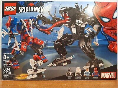 Lego #76115 SpiderMan Spider Mech vs Venom Building Toy Kit 604 Pcs. BNIB
