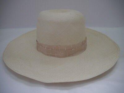 NEW LORO PIANA Julie Panama Brisa Hat wide brim straw sun hat women's size M