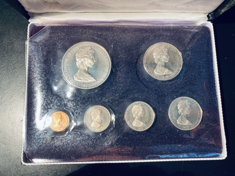 1973 First Coinage of the British Virgin Islands Proof set, w/ box