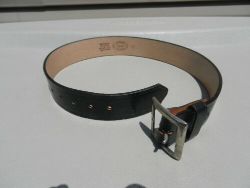"""Unused Jay--Pee Size 28 """" Black Leather belt 1 3/4"""" Wide Some Marks From Storage"""