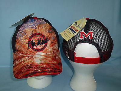 OLE MISS REBELS Brilliant Mesh Snapback CAP/HAT One Size Fits All NWT $25 retail ()