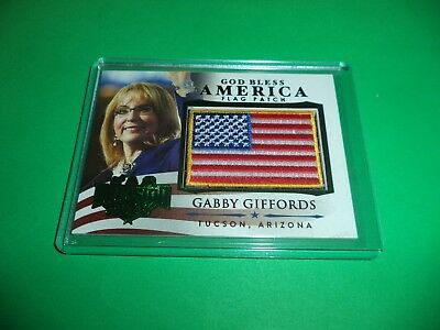 DECISION 2016 SERIES 2 GR FOIL GOD BLESS AMERICA FLAG PATCH GABBY GIFFORDS GBA25