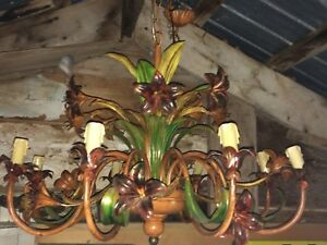 Large Ornate Lily Flowered Chandelier
