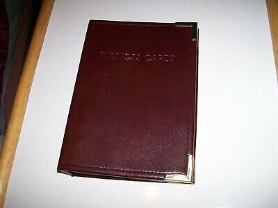 Vintage Hazel Usa Business Card Holder Book File Binder Organizer Keeper