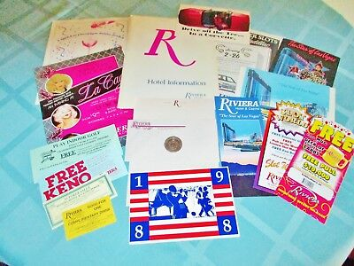 Riviera Hotel   Casino    Las Vegas   Mega 18 Piece Memorabilia Collection