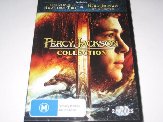PERCY JACKSON COLLECTION lightning thief+sea of monsters 2 dvd NEW/SEALED R4