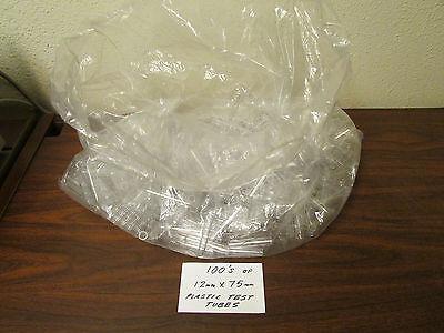Large Bag Of A Few Hundred 12mm X 75mm Plastic Test Tubes Nos