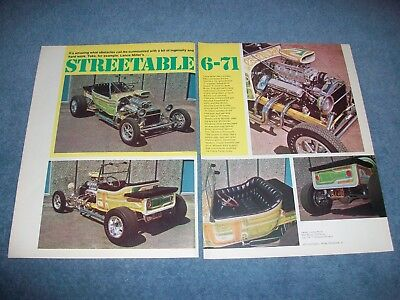 "1923 Ford T-Bucket Roadster Street Rod Article ""Steerable 6-71"" for sale  Shipping to Canada"
